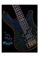 Neon Bass 2 Framed Print