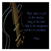 Neon Square Music Quote Framed Print