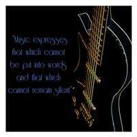 """Neon Square Music Quote 2 by Suzanne Foschino - 13"""" x 13"""", FulcrumGallery.com brand"""