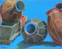Blue Pots 1 by Sharon Weiser - various sizes