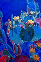 Prickly Pear Blue by Sharon Weiser - various sizes