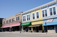 USA, Wisconsin, Manitowoc, Main Street by Cindy Miller Hopkins - various sizes
