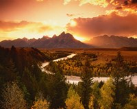 Teton Range at Sunset, Grand Teton National Park, Wyoming Fine Art Print