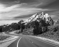 Teton Park Road and Teton Range, Grand Teton National Park, Wyoming Fine Art Print