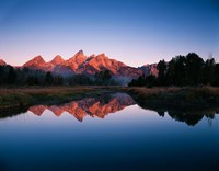Teton Range reflecting in Beaver Pond, Grand Teton National Park, Wyoming by Adam Jones - various sizes