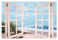 Sandpiper Beach Door Fine Art Print