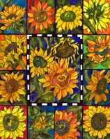 Sunflower Mania by Kate Larsson - various sizes