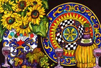 Vino and Sunflowers Fine Art Print