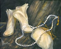 Shoes and Necklace Fine Art Print