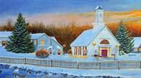 Sunrise Village Fine Art Print
