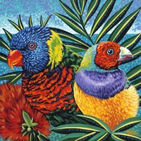 Birds in Paradise II by Carolee Vitaletti - various sizes
