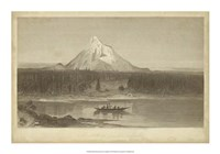 "Mount Hood from Columbia by R. Hinshelwood - 20"" x 14"""