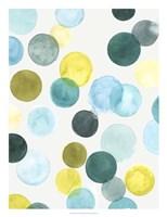 Aquatic Orbit I Framed Print