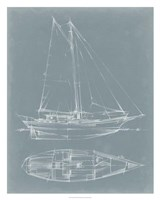 """Yacht Sketches III by Ethan Harper - 24"""" x 30"""""""