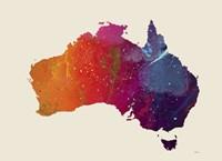 Australia Map 1 Fine Art Print