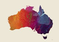 Australia Map 1 by Marlene Watson - various sizes