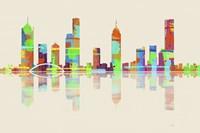 Melbourne Vic Skyline 1 Framed Print
