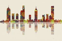 Melbourne Vic Skyline 2 by Marlene Watson - various sizes