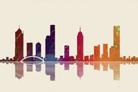 Melbourne Vic Skyline 3 by Marlene Watson - various sizes
