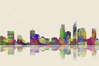 Perth WA Skyline 1 Framed Print