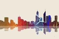 Perth WA Skyline 3 Framed Print