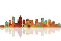 Charlotte NC Skyline 1 by Marlene Watson - various sizes