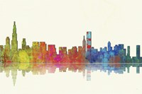 Chicago Illinios Skyline 1 by Marlene Watson - various sizes
