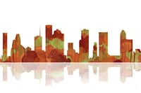 Houston Texas Skyline 1 Fine Art Print