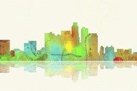 Los Angeles California Skyline 1 Fine Art Print