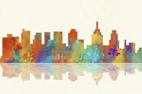 Philadelphia Pennsylvania Skyline 1 by Marlene Watson - various sizes