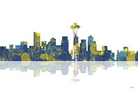 Seattle Washington Skyline 1 by Marlene Watson - various sizes