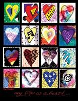 My Life Heart Fine Art Print