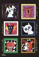 "Pets Play by Pam Reinke - 8"" x 12"""
