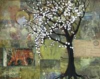 Elephant Under A Tree Fine Art Print