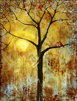 Red Birds Tree Fine Art Print