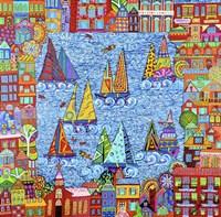 Regatta Town Fine Art Print