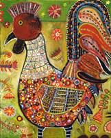 Olive Rooster Fine Art Print