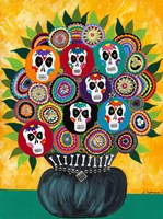 Sugar Skull Bouquet Fine Art Print