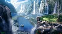 Waterfall Paradise Fine Art Print