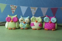 Owls Multi Color Brights by Sugar High - various sizes