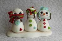Snowmen Hear See Speak by Sugar High - various sizes