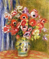 Vase of Tulips and Anemones, 1895 by Pierre-Auguste Renoir, 1895 - various sizes - $37.49
