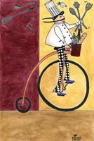 French Chef Bicycle Fine Art Print