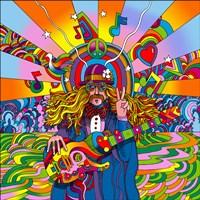 Hippie Musician Framed Print
