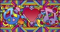 Peace Love Music B by Howie Green - various sizes