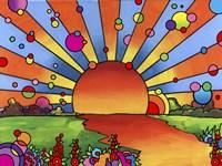 "24"" x 18"" Sunset Art"
