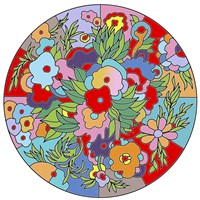 Flower Circle by Howie Green - various sizes