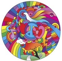Peace Love Music Circle by Howie Green - various sizes