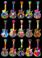 Pop Art Guitars by Howie Green - various sizes