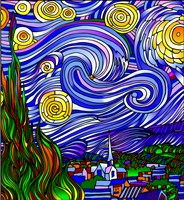 Starry Night 1 by Howie Green - various sizes